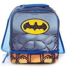 BATMAN DC COMICS Lead Safe Dual Chamber Insulated Lunch Bag Box Tote w/ Cape NWT