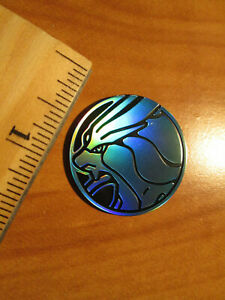 NM Pokemon SUICUNE Shiny/Blue PLASTIC COIN Legends of Johto GX Premium Box