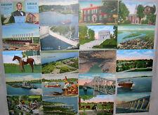 Large Lot of 100 Kentucky, KY White Border Linen Postcards