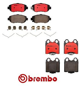 Front Rear Ceramic Brake Pads Kit Brembo For Lexus SC430 GS430 IS300 GS300 GS400
