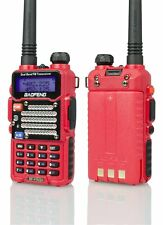 Baofeng Red BF-F9 V2+ TRI-POWER (8 Watt) Two Way Dual-Band HAM Radio-REFURBISHED