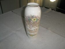 "50th Wedding Anniversary 8"" Flower Vase w/ flowers & bells Ehw Enterprises"