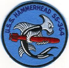 USS Hammerhead SS 364 - Hammerfish w/ Torpedo - BC Patch Cat No. c5176