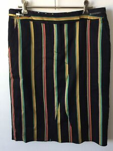 New RRP $780 Paul Smith Pencil Skirt Blue Design Size 40