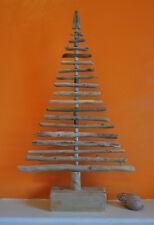 """Christmas Tree Driftwood 20""""/50cm  Flat 2 Dimensional Shabby Chic Shelf X-Mas"""