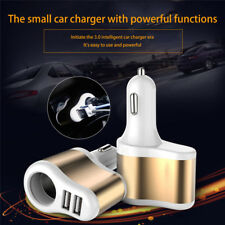 Dual 2USB Car Cigarette 12V Lighter Socket Splitter Charger Power Adapter Outlet