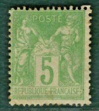 FRANCE Stamp Scott.67 5c PEACE (Type I) 1876 OG UMM MNH Cat $1,150+ ORANGE232
