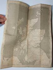 The Scotch Itinerary, 1808, James Duncan, Roads of Scotland, 2 folding maps