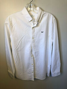 Vineyard Vines White  Button Down Oxford  Shirt Boys Large (16)