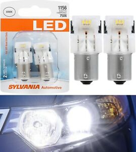 Sylvania Premium LED Light 1156 White 6000K Two Bulbs Stop Brake Rear Replace OE