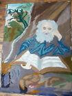 ANTIQUE The HERMIT Tapestry Salomon KONINCK Der EREMIT Czechoslovakia