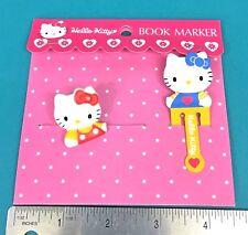 Vintage Sanrio Hello Kitty Cat Mascot Book Marker Bookmark Paper Clip 1993 1994