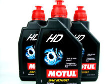 3x 1 L OLIO PER INGRANAGGI MOTUL HD SAE 80W90 minealisches mehrzweckgetriebeöl