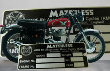 MATCHLESS AMC. motorcycle VIN data plate SWISS quality vin tag Plate