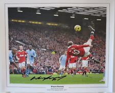 Wayne Rooney Signed Manchester United Goal of the Season Photo Overhead Kick