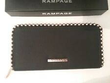 Rampage Women's Full Size Zip Around Wallet  Black/Gold Studded New $58 (CT006K)