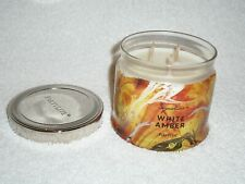 Partylite White Amber 3-wick Jar Candle - Retired