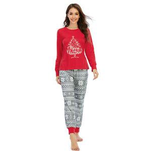 Matching Family Pajamas Sets Christmas Holiday Christmas Tree Printed Sleepwear
