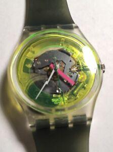 1986 Vintage Swatch Watch GK101 Technosphere Great Cond