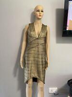 Ladies Parisian Collection Gold Bandage Dress Size 14