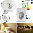 1/10/20x LED Recessed Walkway Step Stair Wall Corner Light Lamp Warm /Cool White