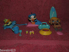 Littlest Pet Shop Seaside Celebration Sportiest Dachshund #518 517 519 LPS Beach