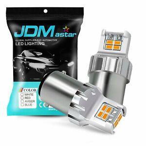 JDM ASTAR 12-SMD 1157 7528 Super Amber 3020 Turn Signal Blinker LED Lights Bulbs