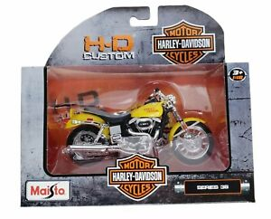 Harley Davidson 1977 FXS Low Rider Yellow 1:18 Scale Maisto Motorcycle Model