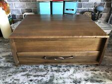 New listing Vintage Mid Century Wood Silverware Chest Box w/ Drawer tarnish resistant Rare