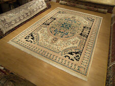 9 x 12 High Quality Hand Knotted Pak French Aubusson Design Soft Wool Rug_Sturdy