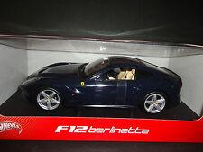 Hot Wheels Ferrari F12 Berlinetta Blue BCJ73 1/18
