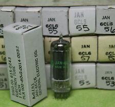 Single GE JAN 6CL6 Tubes Bl Plates Tested NOS/NIB!