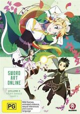 Sword Art Online Vol. 3 Fairy Dance Part 1 (Eps 15-19) DVD NEW