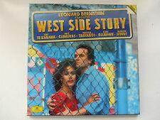 LEONARD BERNSTEIN - WEST SIDE STORY 2LP BOX GERMANY DGG TE KANAWA CARRERAS HORNE