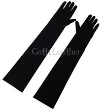 COOL BLACK Opera LongLength Fingertips Satin Gloves Partywear  2001_black