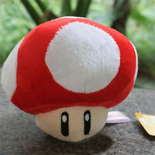 Super Mario Plush Collection Cute 5in Mushroom Plush Soft Toy Gifts Red