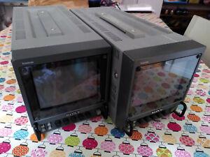 2x Sony PVM-6041QM Trinitron Color Video Picture Monitor