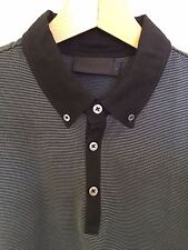 Burton Black Label Men's striped Button Down Collar Polo shirt. UK L