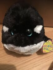 Ty Beanie Baby Ballz ~ SPLASH the Killer Whale (Regular Size ~ 5 inch) ~ MWMT'S
