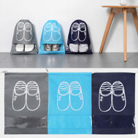 Travel Drawstring Shoe Storage Bag Tote Laundry Dustproof Portable Pouch