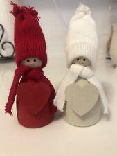 Vintage Swedish Wooden Dolls. Set Of 2. Adorable!