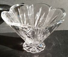 "Marquis by Waterford 4"" Crystal Vase Bowl Festivale Scalloped Rim MINT!"