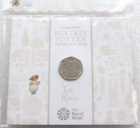 2017 Royal Mint Beatrix Potter Tom Kitten 50p Fifty Pence Coin Pack Sealed
