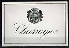 Chassagne -- Ancienne Etiquette de Vin -- Bourgogne -- Blason -- Réf.55
