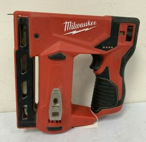 Pre Owned Milwaukee M12 3/8 in. Crown Stapler 2447-20 (Tool Only)
