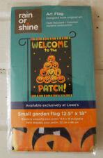 """Pumkin Patch Happy Halloween Garden Flag Porch Flag 12.5"""" X 18"""" - New Sealed"""