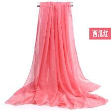 Women's New Fashion Solid Shawl Wrap Scarves Long Wraps Shawl Beach Silk Scarf