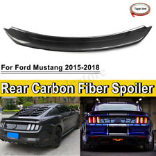 Carbon Fiber Rear Wing Spoiler For Ford Mustang 2015-18 GT350 Track Pack Style
