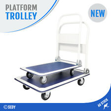 NEW 150kg Folding Platform Trolley Heavy Duty Hand Foldable Cart Industrial Home