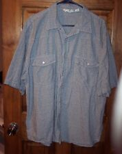 Mens 2XL Real Work Wear Cowboy Western Rockabilly Pearl Snap SS Cotton Shirt GUC
